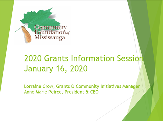 2020 Grants Information Session